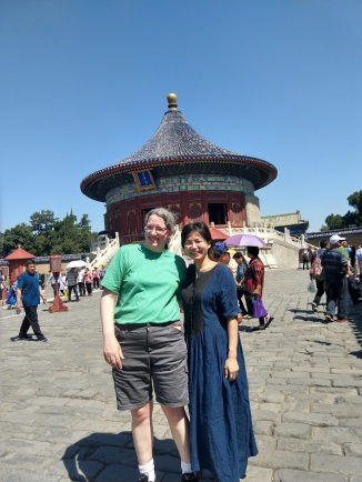 Me and Tang Fei, standing in front of the Imperial Vault of Heaven at the Temple of Heaven, Beijingt of